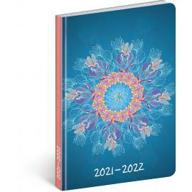 18měsíční diář Petito – Mandala 2021/2022, 11 × 17 cm