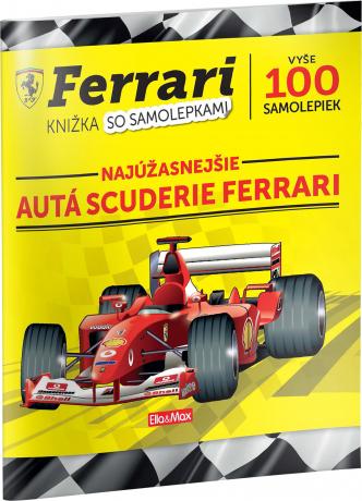 FERRARI, autá Scuderie – Kniha samolepiek