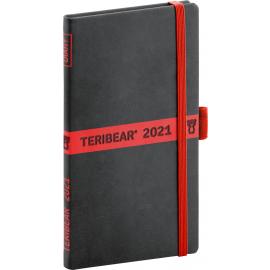 Kapesní diář Teribear 2021, 9 × 15,5 cm