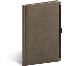 Notes Hardy hnědý, linkovaný, 13 × 21 cm