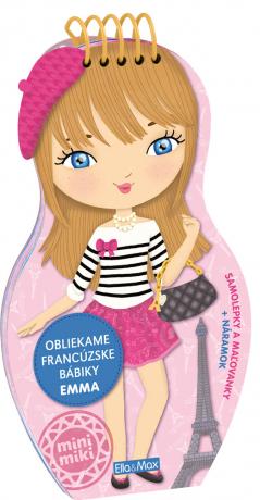 Obliekame francúzske bábiky EMMA – Maľovanky