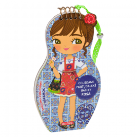 Obliekame portugalské bábiky ROSA – Maľovanky