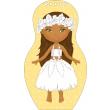 Obliekame tahitské bábiky MOHEA – Maľovanky