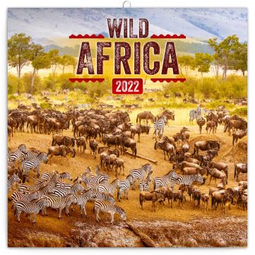 Poznámkový kalendář Divoká Afrika 2022, 30 × 30 cm