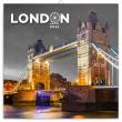 Poznámkový kalendář Londýn 2021, 30 × 30 cm