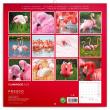 Poznámkový kalendář Plameňáci 2022, 30 × 30 cm