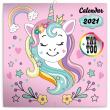 Poznámkový kalendář Šťastní jednorožci 2021, 30 × 30 cm