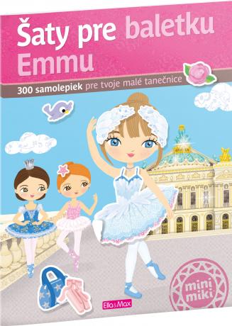 Šaty pre baletku EMMU – Kniha samolepiek