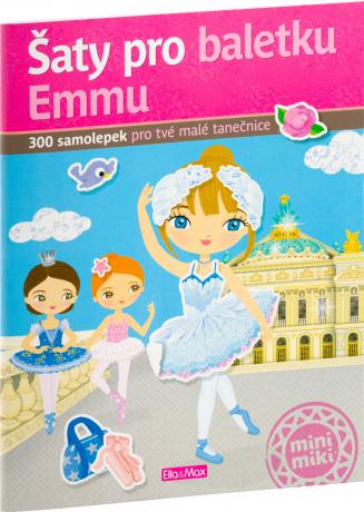 Šaty pro baletku EMMU – Kniha samolepek