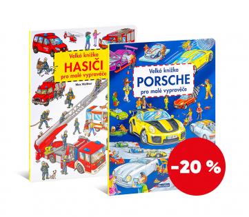 Set knih - Porsche a Hasiči pro malé vypravěče