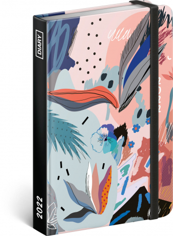 Týdenní diář Abstrakt 2022, 11 × 16 cm