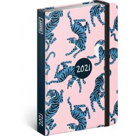 Týdenní diář Blue Tiger 2021, 11 × 16 cm