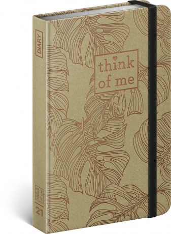 Týdenní diář Craft Monstera – Think of me 2021, 11 × 16 cm