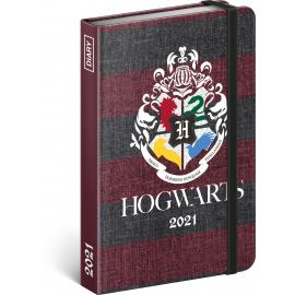 Týdenní diář Harry Potter – Hogwarts 2021, 11 × 16 cm