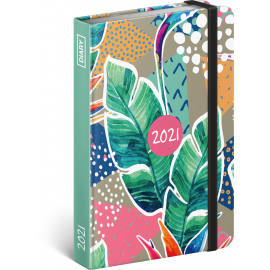 Týždenný diár Listy 2021, 11 × 16 cm