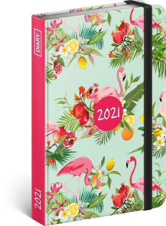 Týdenní diář Plameňáci 2021, 11 × 16 cm