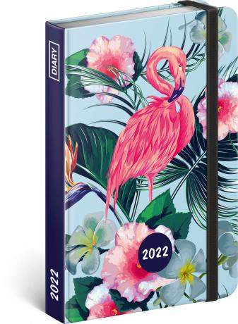 Týdenní diář Plameňáci 2022, 11 × 16 cm