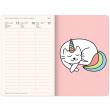 Týdenní diář Unicorn Cat 2021, 11 × 16 cm