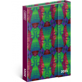 Týdenní magnetický diář Buddha 2021, 11 × 16 cm