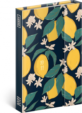 Týdenní magnetický diář Citrony 2022, 11 × 16 cm