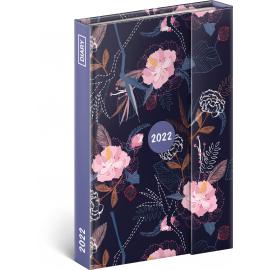 Týdenní magnetický diář Květy 2022, 11 × 16 cm