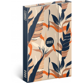 Týdenní magnetický diář Listy 2022, 11 × 16 cm