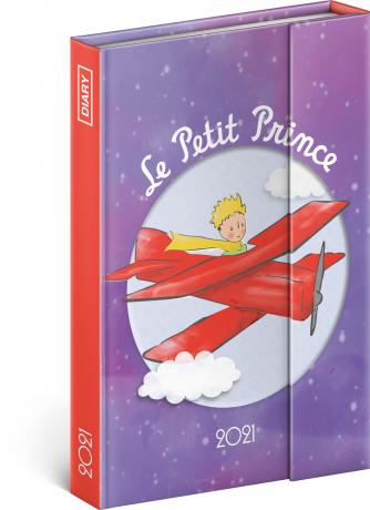 Týdenní magnetický diář Malý princ – Letadlo 2021, 11 × 16 cm