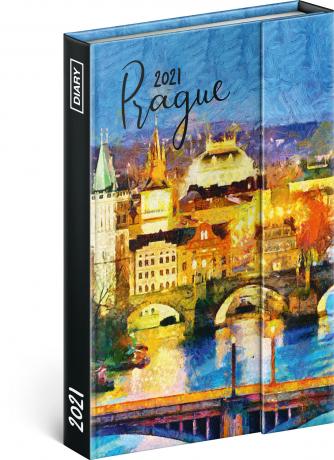 Týdenní magnetický diář Praha 2021, 11 × 16 cm