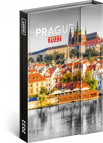 Týdenní magnetický diář Praha 2022, 11 × 16 cm