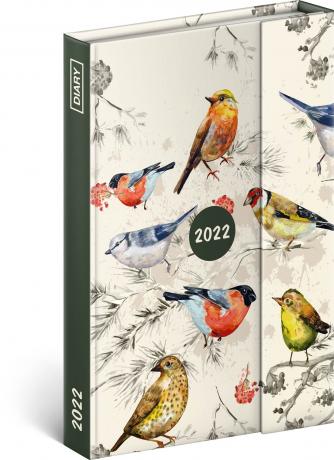 Týdenní magnetický diář Ptáci 2022, 11 × 16 cm