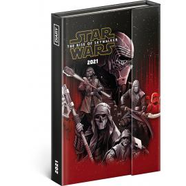 Týdenní magnetický diář Star Wars 2021, 11 × 16 cm