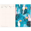 Týdenní magnetický diář Tropické listy 2021, 11 × 16 cm